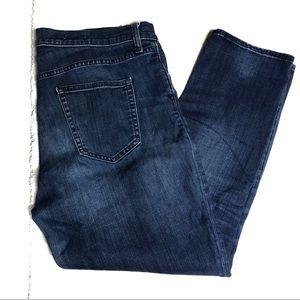 GAP Size 32 R Girlfriend Crop Capri Jeans Skinny